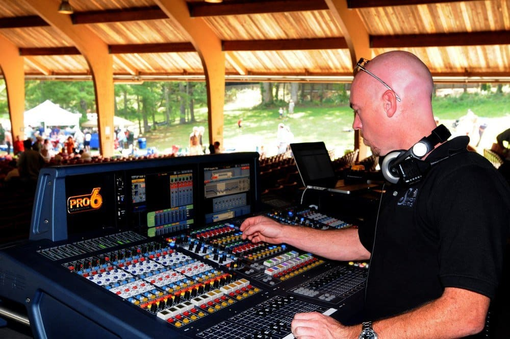 Chad Stewart, midas, pro6, front of house, production, event, live